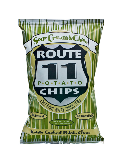 Route 11 Sour Cream & Chive Chips 30 - 2 oz bags