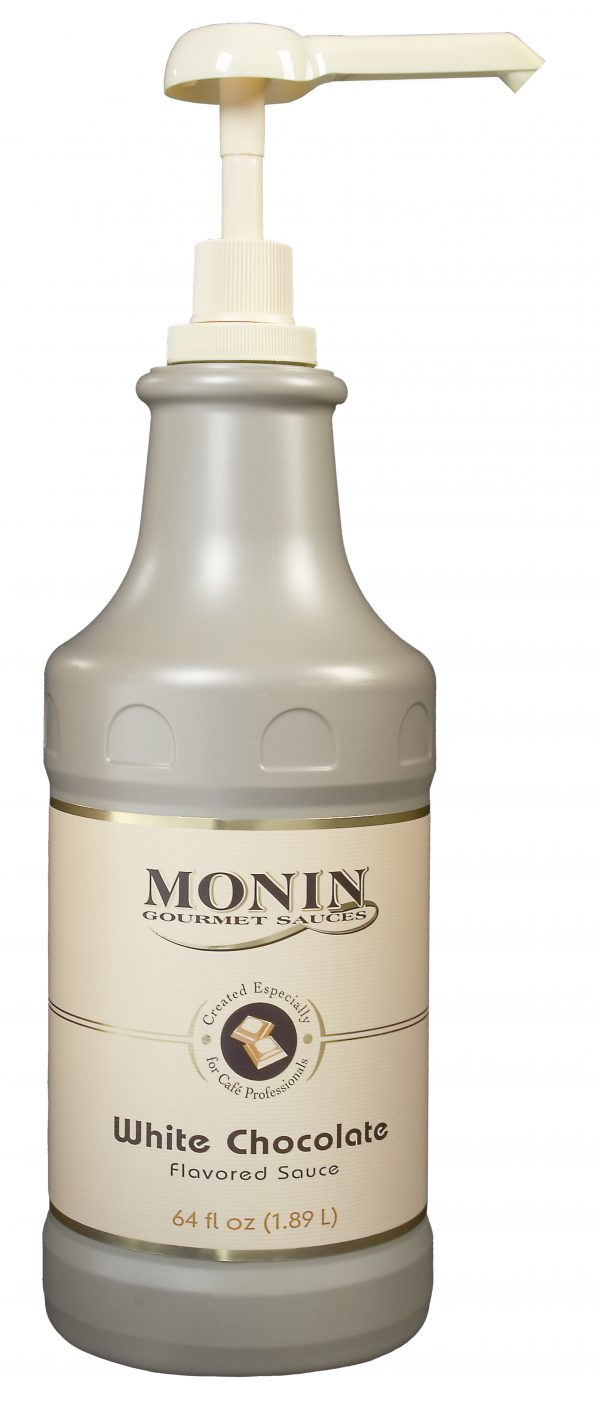 Monin White Chocolate Sauce 64 oz Jug