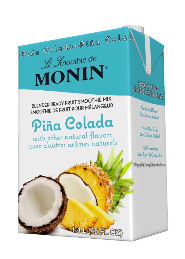 Monin Fruit Smoothie Mix Piña Colada 46 oz Carton
