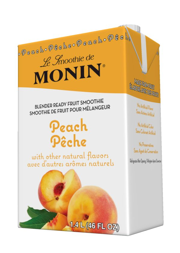 Monin Fruit Smoothie Mix Peach 46 oz Carton