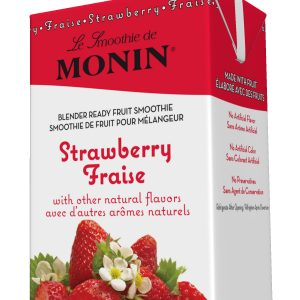 Monin Fruit Smoothie Mix Strawberry 46 oz Carton