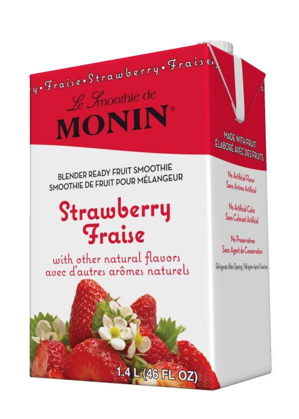 Monin Fruit Smoothie Mix Strawberry 46 oz Carton