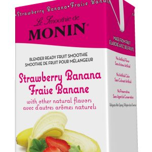 Monin Fruit Smoothie Mix Strawberry Banana 46 oz Carton