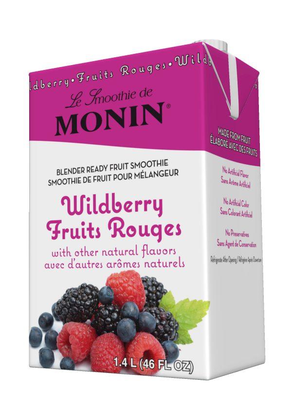 Monin Fruit Smoothie Mix Wildberry 46 oz Carton
