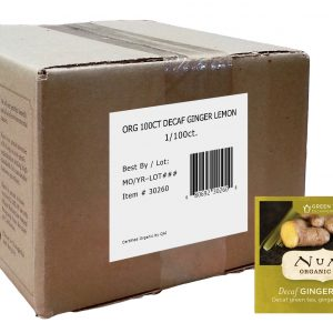 Numi Organic Decaffeinated Ginger Lemon 100 ct