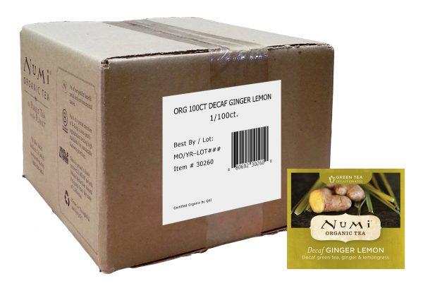 Numi Organic Decaffeinated Ginger Lemon 100 ct