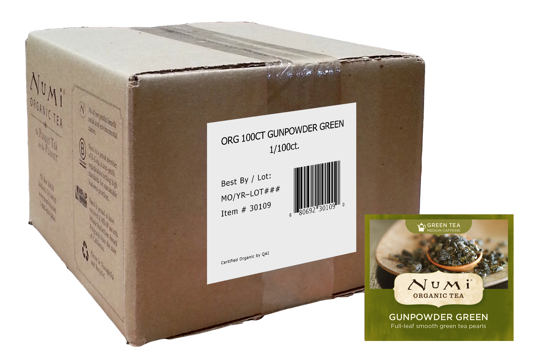 Numi Organic Gunpowder Green 100 ct
