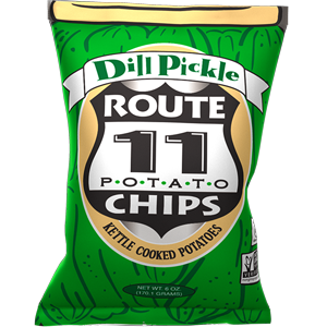 Route 11 Dill Pickle Chips 30 – 2 oz bags