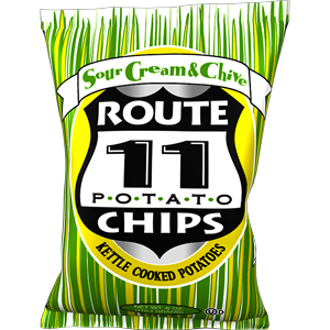 Route 11 Sour Cream & Chive Chips 30 – 2 oz bags